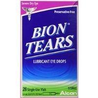 Bion Tears Lubricant Eye Drops-0015 oz 28 ct Single Use Vials by HERO24HOUR