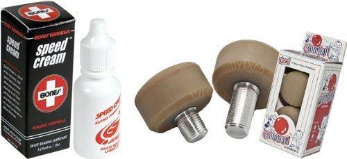 Gumball Toe Stops - Long Stem Gum Ball Roller Derby Skate Stops Bones Speed Cream Bearing Lubricant Model
