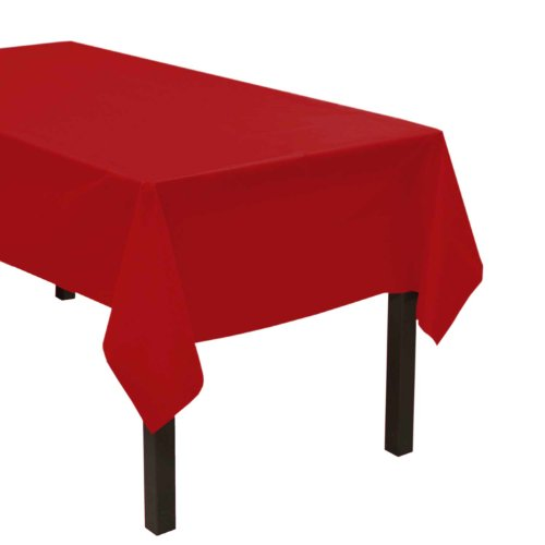 Party Essentials Heavy Duty Plastic Table Cover Available in 44 Colors 54 x 108 Red