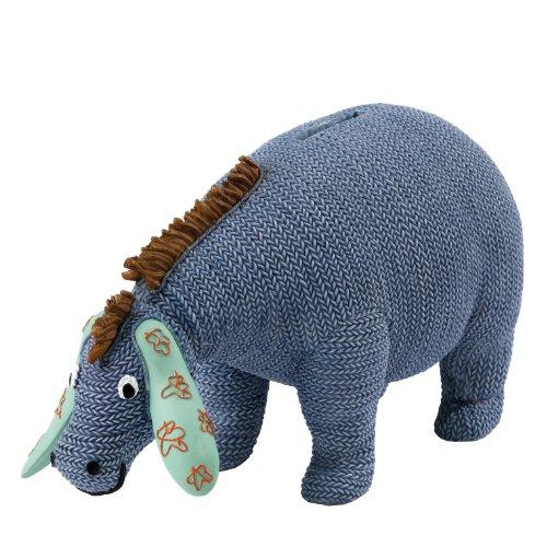 Classic Pooh - Eeyore Wobble Head Money Bank Knitted