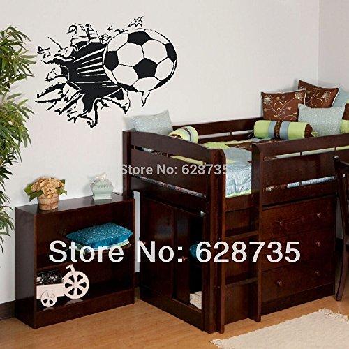 New Arrival Soccer Ball Football vinyl Wall Sticker Decal Kids Room Decor Sport Boy Art Bedrooms2002
