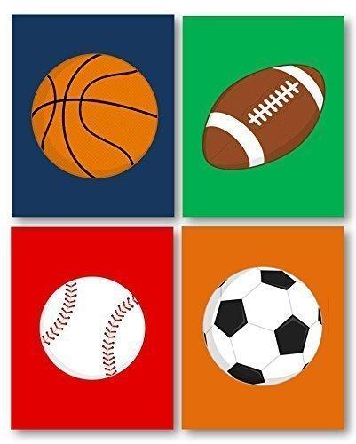 Sports Decor Art for Boys Room Sports Art for Kids Sport Nursery Art Prints Sports Theme Ball Art Boys Art Prints Sport Balls Art PRINTS ONLY Unframed NOT CANVAS