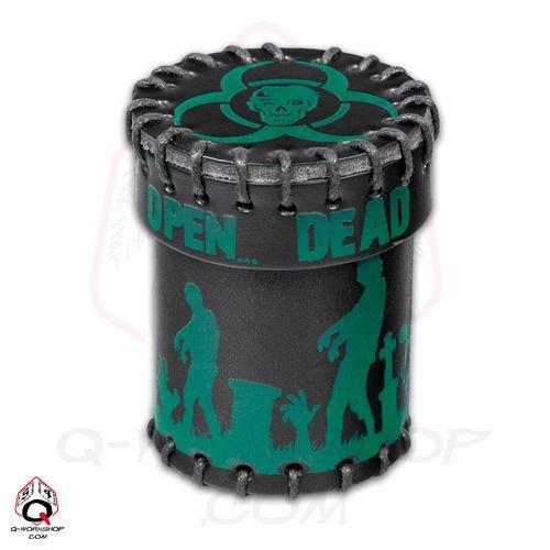 Q-Workshop Dice Cup - Black Zombies Green Art