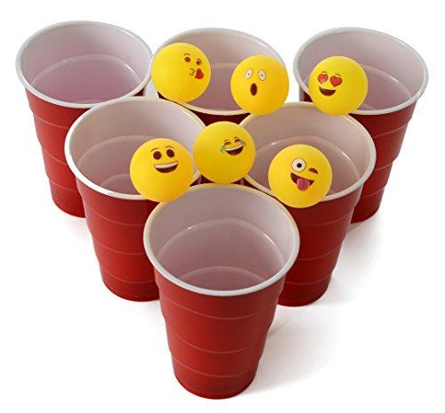 Emoji Universe Beer Pong Balls Table Tennis Balls 48-Pack
