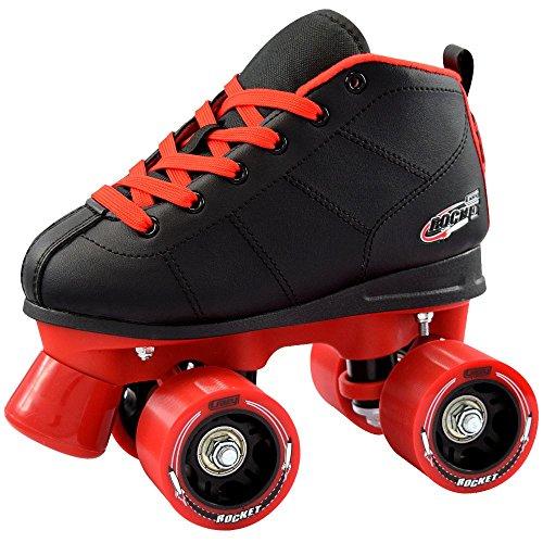 Crazy Skates Rocket Kids Roller Skate Black  Red Eu31 - US j13
