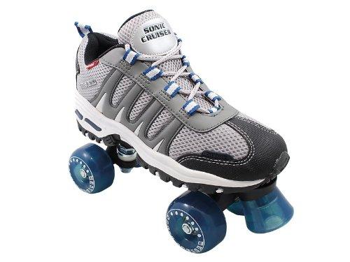 Sonic Cruiser Outdoor Skates - Sonic Cruiser Outdoor Quad Roller SkateGrayMens 6  Ladies 7