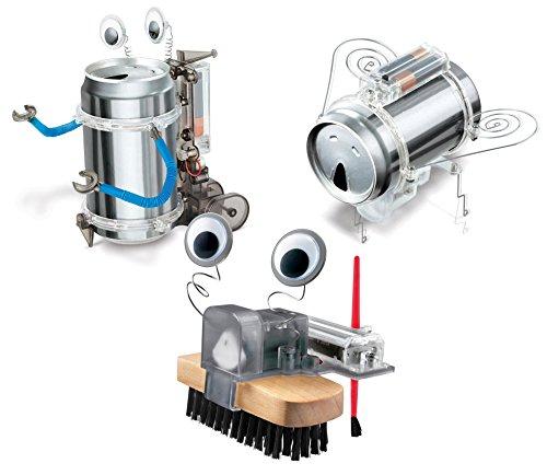 Toysmith Tin Can Robot Robug Brush Robot Set