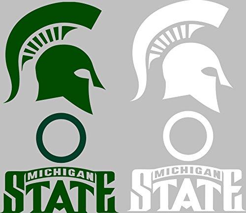 Michigan State Spartans Cornhole Set of 6 Vinyl Decal Stickers