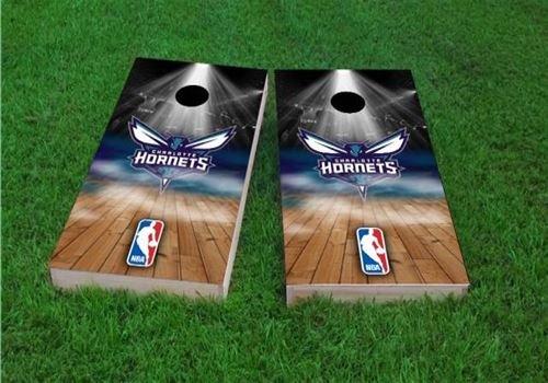 NBA Team Charlotte Hornets Cornhole Set 2x4 Wood Handmade ACA Regulation Portable Includes 8 Bags