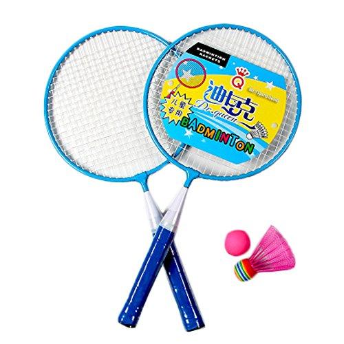 Kids Badminton Sets Children IndoorOutdoor Sports Toy Ball Game-BlueWhite