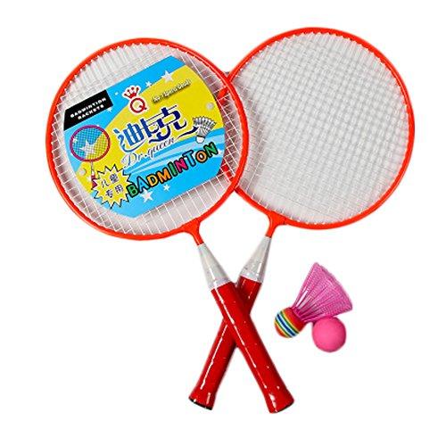 Kids Badminton Sets Children IndoorOutdoor Sports Toy Ball Game-Morange