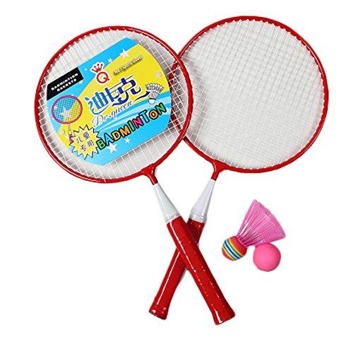 Kids Badminton Sets Children IndoorOutdoor Sports Toy Ball Game-RedWhite