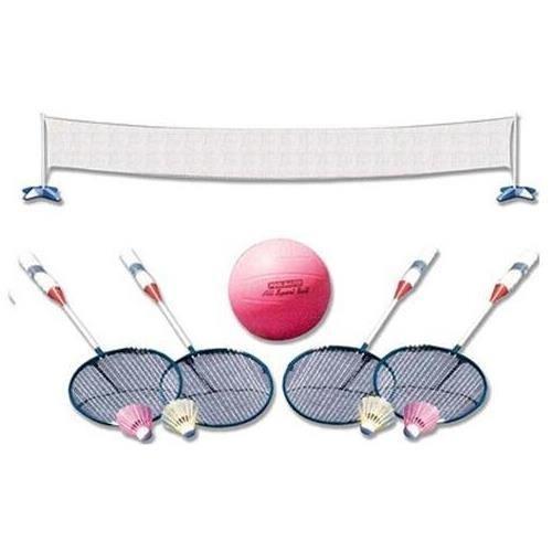 Poolmaster 72785 Across Pool Volleyball  Badminton Game Combo by Poolmaster