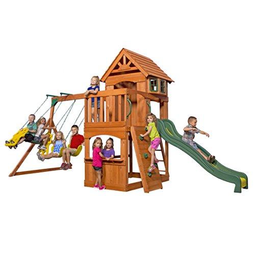 Backyard Discovery Atlantis All Cedar Wood Playset Swing Set
