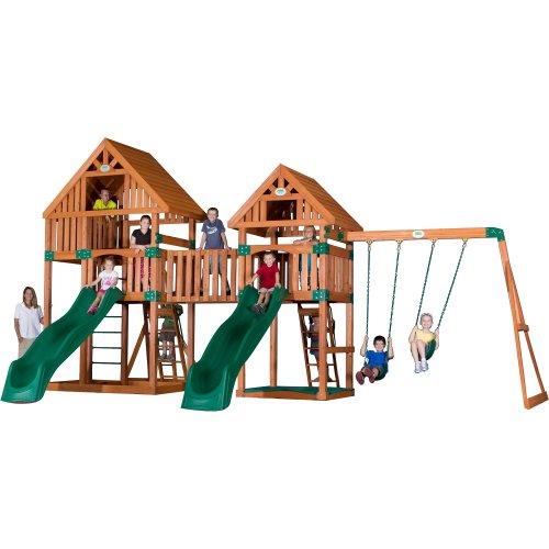 Backyard Discovery Vista All Cedar Wood Playset Swing Set