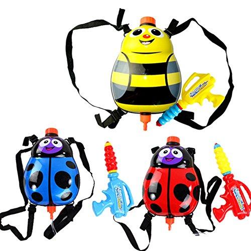 BleuMoo Bee Beetle Super Soaker Water Guns Powerful Pistol Squirt Gun Backpack Toy