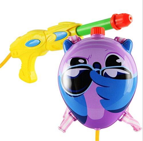 Jutao Kids Super Soakers Backpack Water Gun Pistol Squirt Gun Cute Owl Purple
