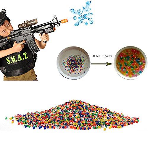MEXUD-10000Pcs Bullet Ball Mini Round Crystal Soil Water Bead For Water Pistol Gun Toy
