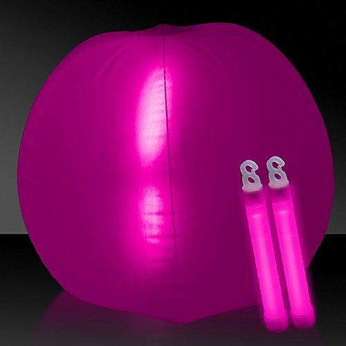 Glow in the Dark Beach Ball - 24 Pink 1 Each