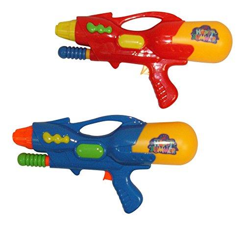 2 Pack - 12 Happy Summer Jumbo Pump Water Gun Soaker Blaster 2 Pieces Red Blue