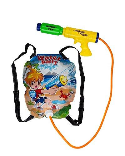 Water Gun Backpack Super Soaker For Kids - Powerful Pistol Squirt Gun By Mix Maxx