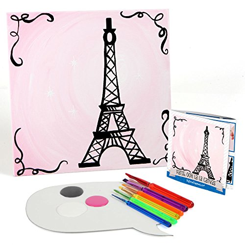 Paris Ooh La La - Paris Themed Kids Canvas Painting Kit