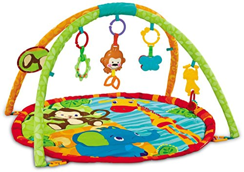 EMILYSTORES Baby Activity Play Gym Mats 30 x 30 Inch Zoo