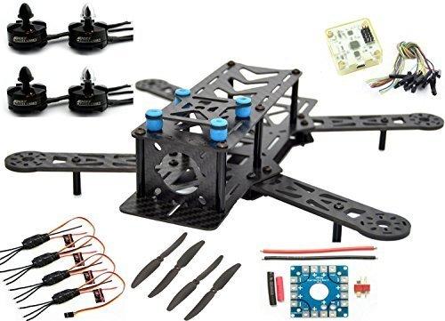 LHI 250mm Pro Pure Carbon Fiber Quadcopter Frame Kit  CC3D Flight Controller  MT2204 2300KV Motor  Simonk 12A ESC  6030 CF Propeller Prop