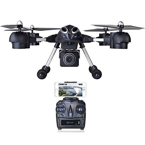 Contixo Wifi FPV F10 RC Quadcopter Drone Live View 720p HD Wifi Camera Headless Mode 24GHz 4 Channel 6 Axis Gyro RTF Support GoPro HERO Cameras