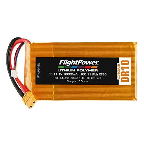 FLIGHTPOWER Lipo Drone 3S 111V 10000Mah 10C XT60 Plug