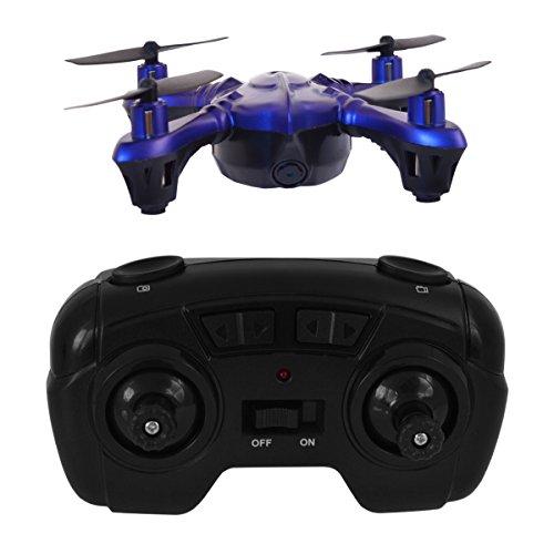 Hover-Way 24 GHZ Sky Spy Micro Drone with 480P Camera 8GB SD - Pocket Size Video Nano Drone Blue