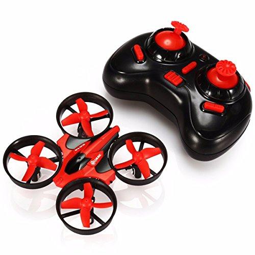 EACHINE E010 Mini UFO Quadcopter Drone 24G 4CH 6 Axis Headless Mode Remote Control Nano Quadcopter RTF Mode 2 Red