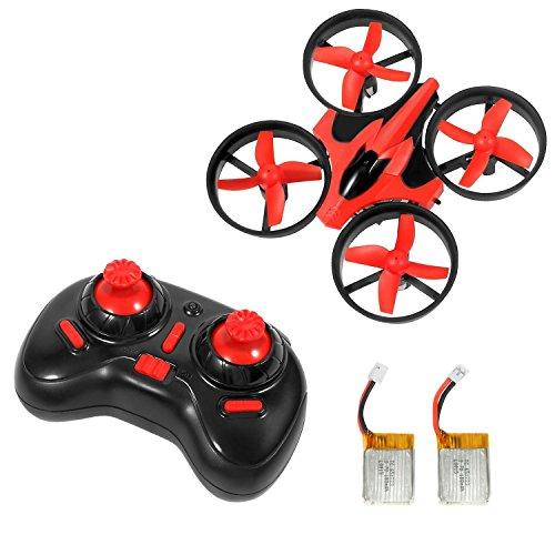 Goolsky NIHUI NH-010 24G 4CH 6-Axis Gyro Mini RC Quadcopter RTF UFO Anti-crush Drone with Two Batteries