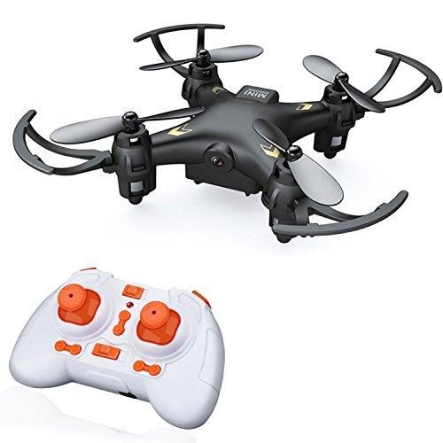 QuadPro CM5 Mini RC Quadcopter-Drone with camera 24GHZ 4CH 6-axis Gyro Remote Control Rc Nano quadcopter Drone with 03MP HD Video camera(Black)