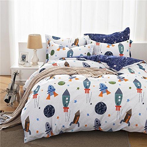 Brandream Boys Galaxy Space Bedding Set Kids Bedding Set Duvet Cover Full Queen Size