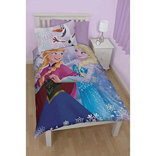 Disney Frozen ChildrensKids Warm Hugs Reversible Twin Duvet Cover Bedding Set Twin Multi Coloured