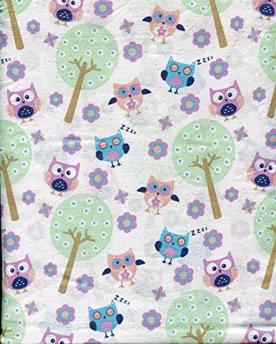 Dot Dash Cotton 3 Piece TWIN Sheet Set Owl