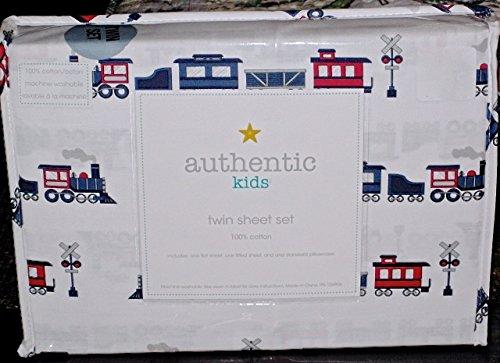 FULL SIZE ALL COTTON 4-pc TRAIN TRAINS Sheet Set authentic kids