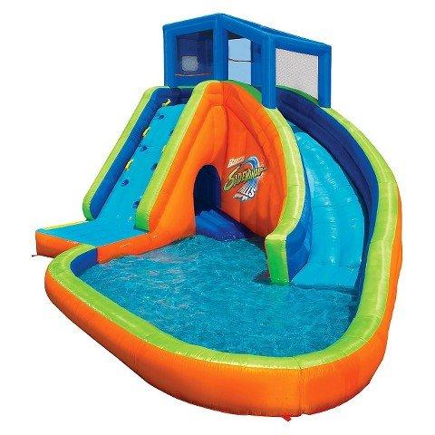 Spring Summer Toys Banzai Sidewinder Falls 15 Foot Inflatable Waterpark Water Slide