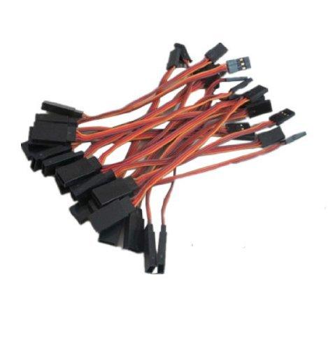 EmperorsMagic 10cm Male to Female Jr Plug Rc Servo Extension Lead Wire Cablepack of 20pcs