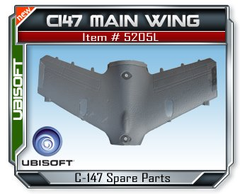 Splinter Cell C147 Paladin Main Wing by Ubisoft