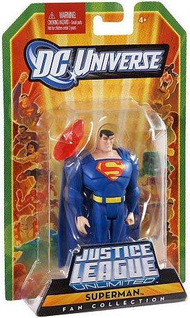 DC Universe Justice League Unlimited Fan Collection Action Figure BLUE Superman