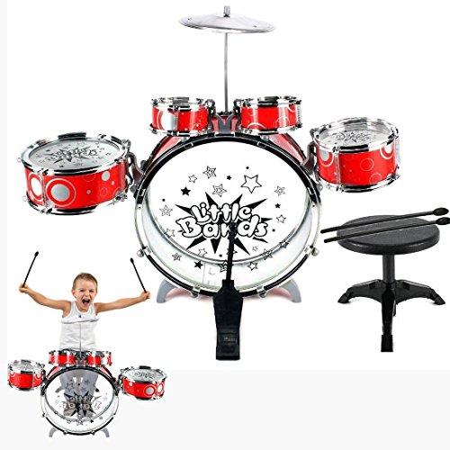 Dazzling Toys Junior Musical Drum Set Rock Jazz Kids Percussion Instrument Kit