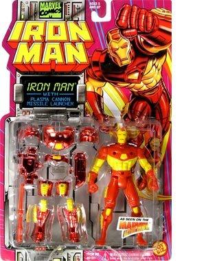 IRON MAN 5 Action Figure WPlasma Cannon Missile Launcher 1994 Toy Biz