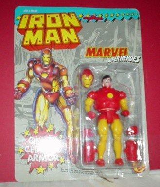 Vintage Quick Chage Armour Iron Man Action Figure Marvel Superheroes