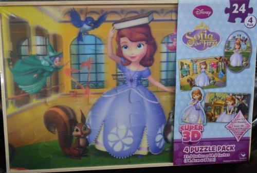 Disney Junior Sofia Lenticular Puzzle 12 by 9 48pieces