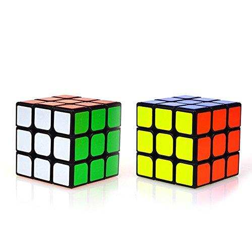 ClothingTalks 3x3x3 Speed Cube Smooth Anti-Pop Durable Puzzles 55CM217Black 100 Money Back Guarantee