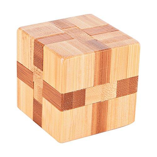 Emorefun Qin Bamboo Magic Cube Lock Logic Puzzle Burr Puzzles Brain Teaser Intellectual Removing Assembling Toy