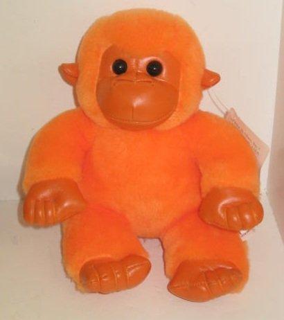 First and Main Orange Gorilla 6 Stuffed Animal Plush ~ Rainbow Gorilla