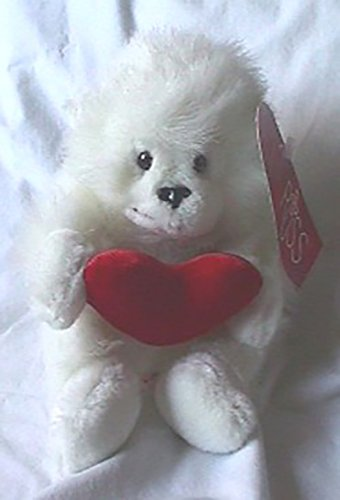 Russ Berrie Plush Mongo the Valentine White Gorilla Stuffed Animal